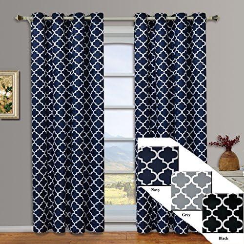 Royal Hotel Meridian Navy Grommet Blackout Window Curtain Drapes
