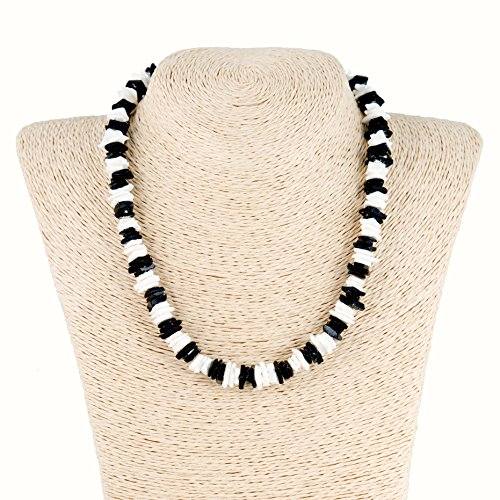 Black and White Puka Chip Shell Necklace