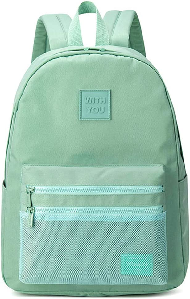 Choco Mocha Girls Backpack for Teen Girls Water Resistant College Backpack for Women School Bookbag Casual Travel Daypack Side Pocket with 15.6 Inch Laptop Sleeve Teal Green