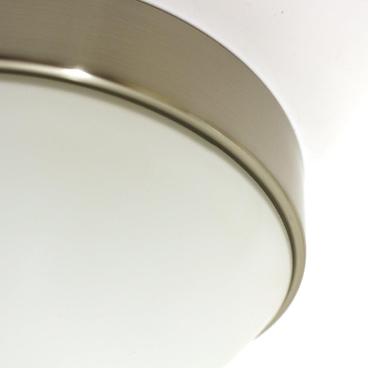 Lampenlux Aki - Lámpara de techo con cubierta de cristal (níquel ...