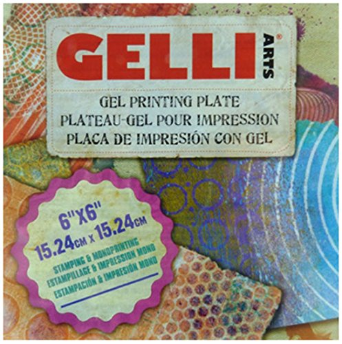 GEL PRINTING PLATE by Gelli Arts | Print gelly press, Craft amazing pictures to show off to your friends, 6X6 Inches Square GL6x6
