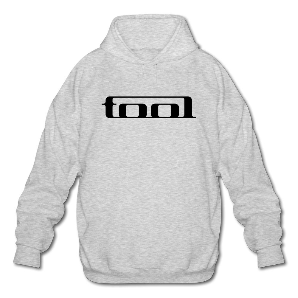Men's Tool Band Logo Long Sleeves Fleece Hoodie by Xuruw