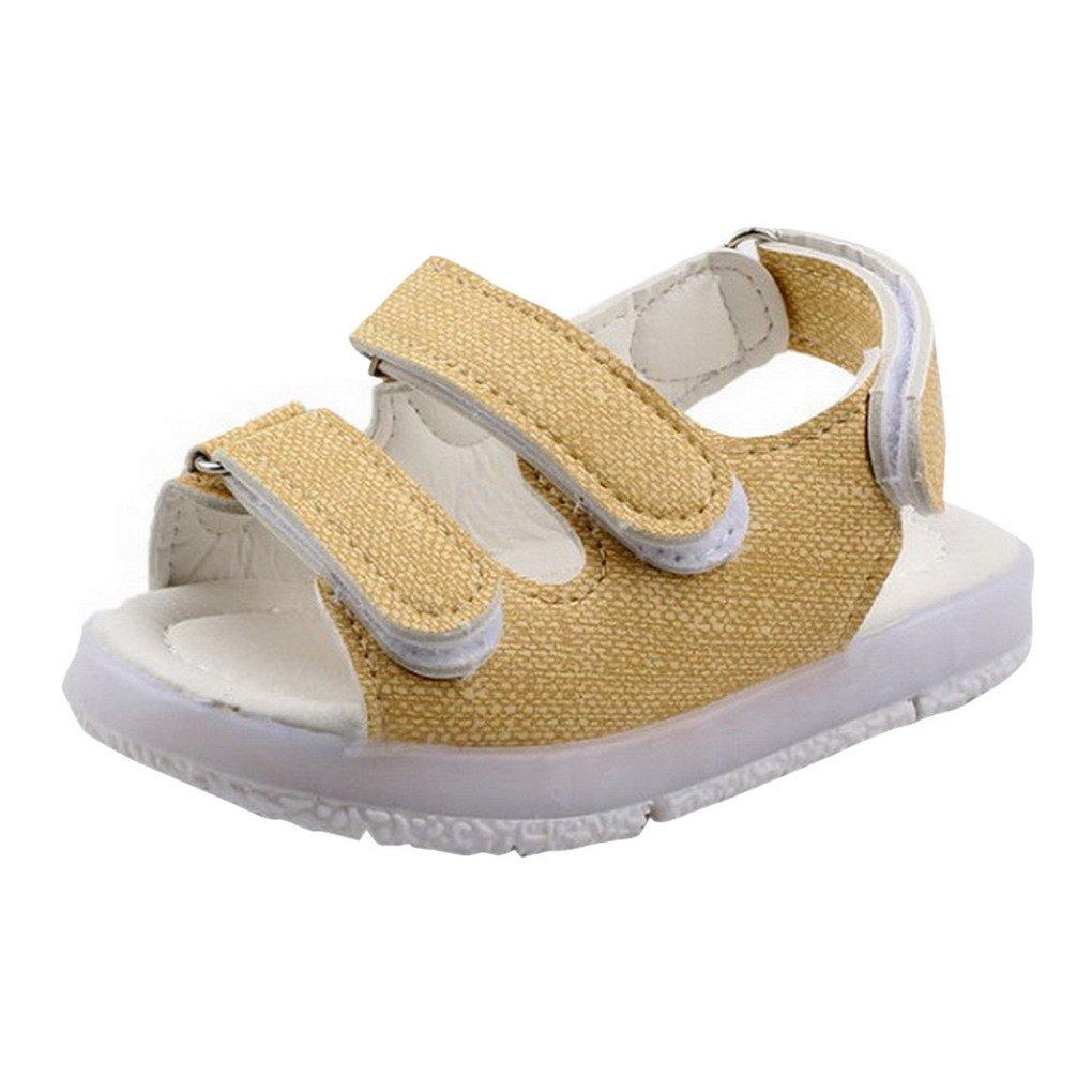 844ce4328c0dd Evedaily Unisexe Chaussures Premiers Pas Bébé Garçon Fille Été Sandales  Souples en Cuir Semelle Antidérapante Velcro  Amazon.fr  Chaussures et Sacs
