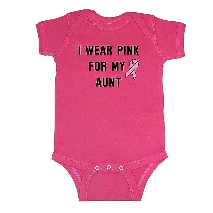 cdb365977d6c Amazon.com  Mashed Clothing I Wear Pink For My Aunt Baby Bodysuit ...