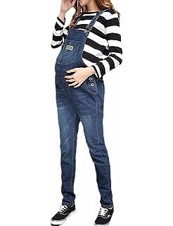 f551337e3756 G8 One Maternity Bib Overalls - Darkwash Denim Pregnancy Jean at ...