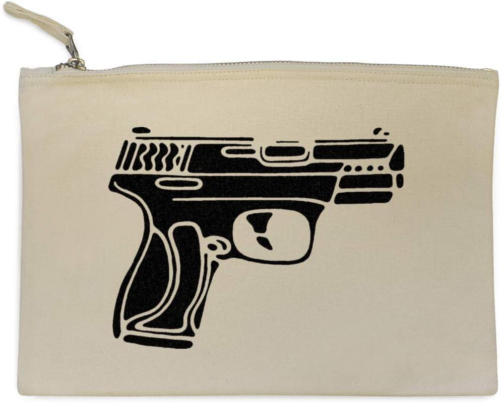Handgun Weapon Canvas Clutch Bag CL00013997 Accessory Case
