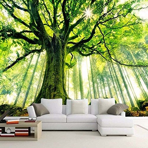 Amazhen Customized Size Forest Scenic And Warm Sun Mural Wallpaper Living Room Sofa Bedroom Tv Backdrop Wallpaper 3D