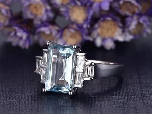 MYRAYGEM-wedding ring sets Aquamarine0413 product image 4