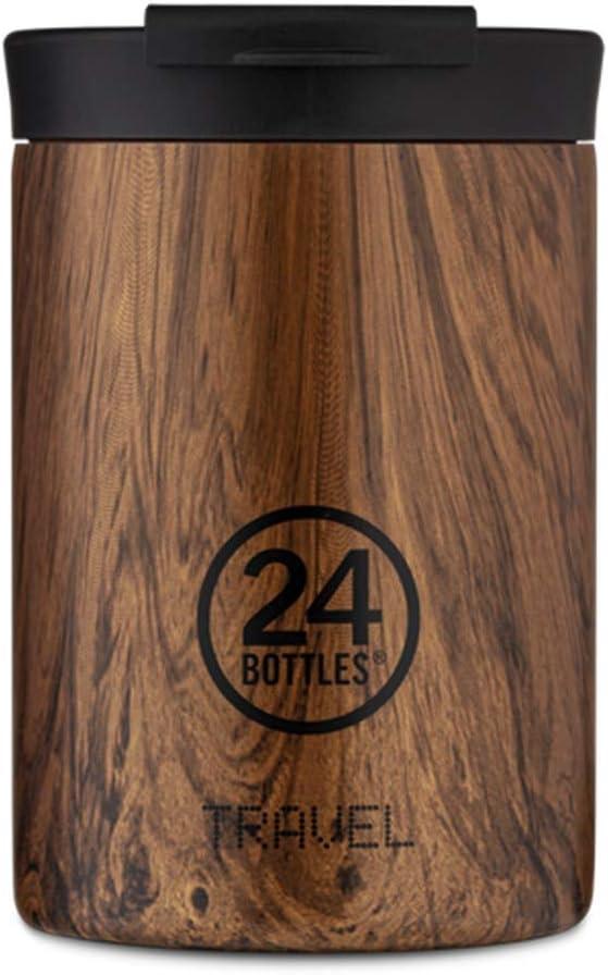 24 Bottles Travel Tumbler Gobelet de voyage 350 ml thermique Couleur Sequoia Wood