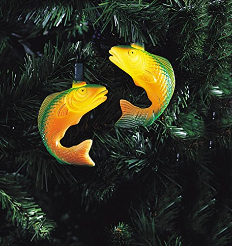 UPC 009312651955, Set of 10 Green Trout Fishing Christmas Lights - Green Wire