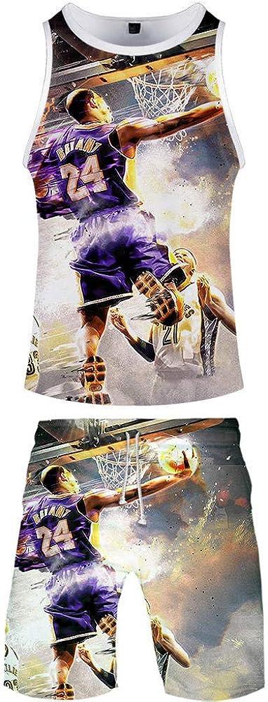 Lakers 8 Kobe Bryant Casual Hombres 3D Tank Niños sin Mangas Kit ...