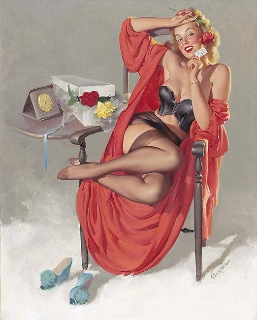 Wall art. Elvgren Vintage Magazine artwork Reproduction poster