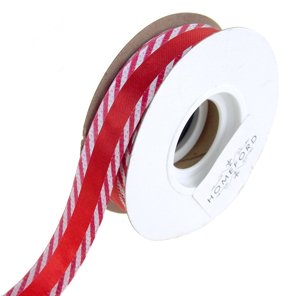 Homeford FRRY92101W06503F Ribbon, 5/8'', Red