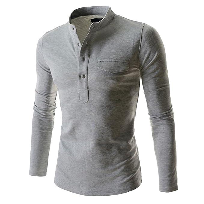 Clothing & Accessories KLJR Women Slim Fit Cotton Crewneck Button Long Sleeve Henley Shirt Tops