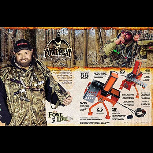 Do-All Outdoors Fowl Play Automatic Clay Pigeon Skeet Thrower Trap, 25 Clay Capacity by Do-All Outdoors (Image #3)