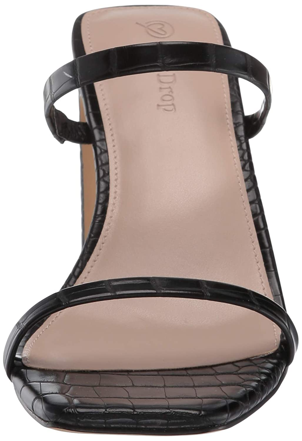 The Drop Womens Avery Square Toe Two Strap High Heeled Sandal