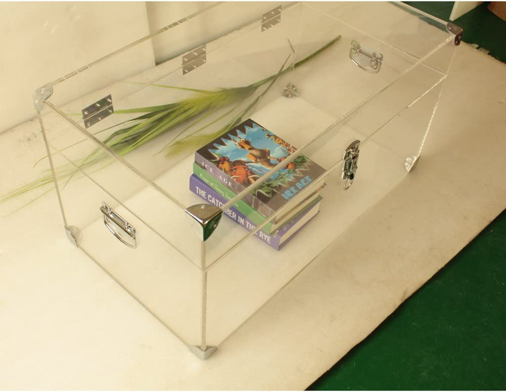 Custom Made Clear Acrylic Clothings /Books Chest ,Lucite Storage Trunk: Home Improvement