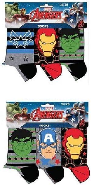 Pack 6 pares de calcetines multicolor diseño AVENGERS - LOS ...