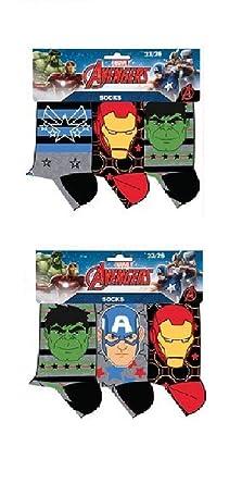 Pack 6 pares de calcetines multicolor diseño AVENGERS - LOS VENGADORES (marvel) num 23