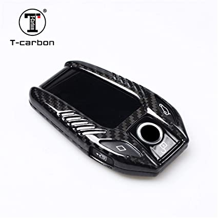 Amazon Com Carbon Fiber Key Fob Cover Fit For Bmw Lcd Key Fob