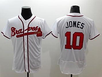 65ec72da2 Atlanta Braves Men s  10 Chipper Jones Baseball Home Jersey White XL ...