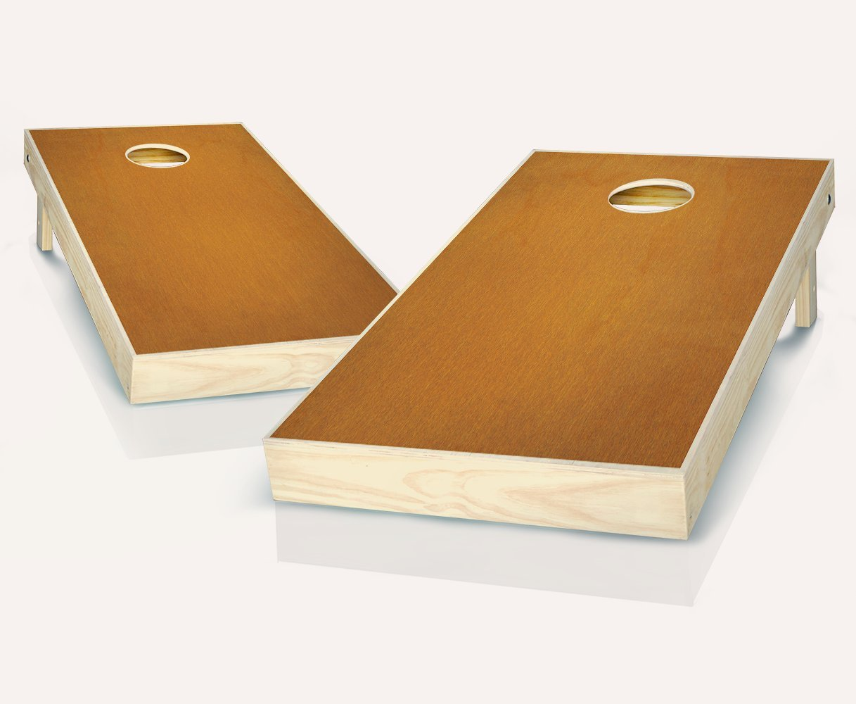 Maple Stained Cornhole Boards withのセット8 Cornhole Bags