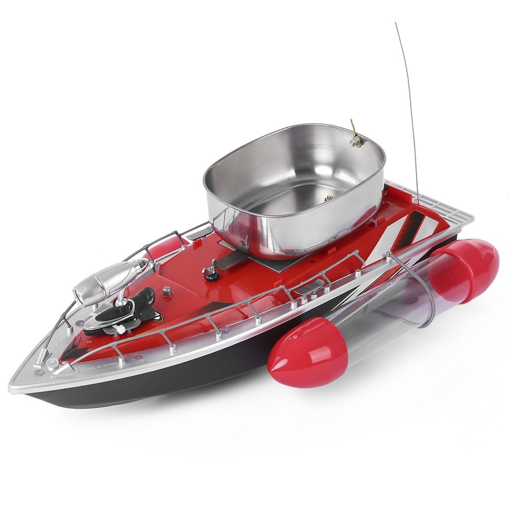 Greendream Mini RC Wireless Fishing Lure Bait Boat Remote Control for Finding Fish -RED