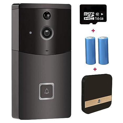 L@CR Timbre De Video, Timbre Inteligente 720P HD WiFi Cámara De Seguridad,