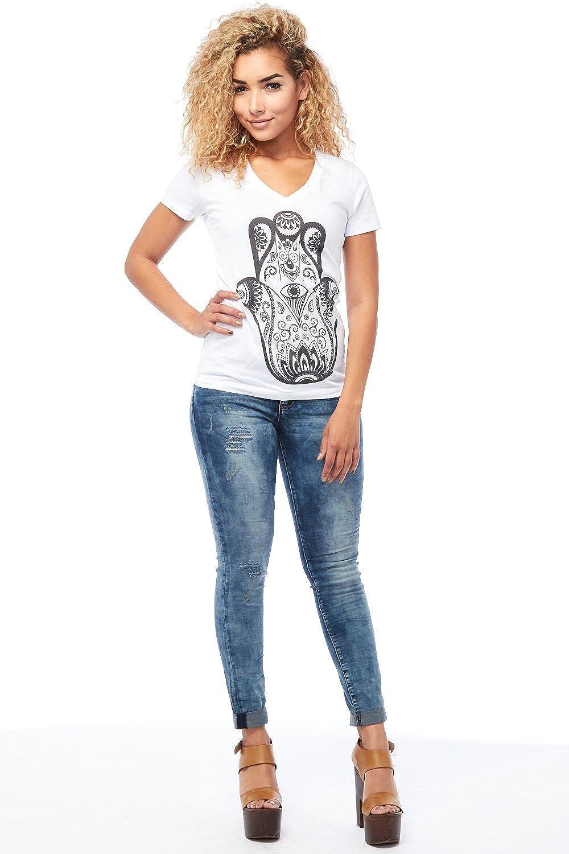 Womens Ladies Juniors Roll Up Super Skinny Jeans Pants P690163