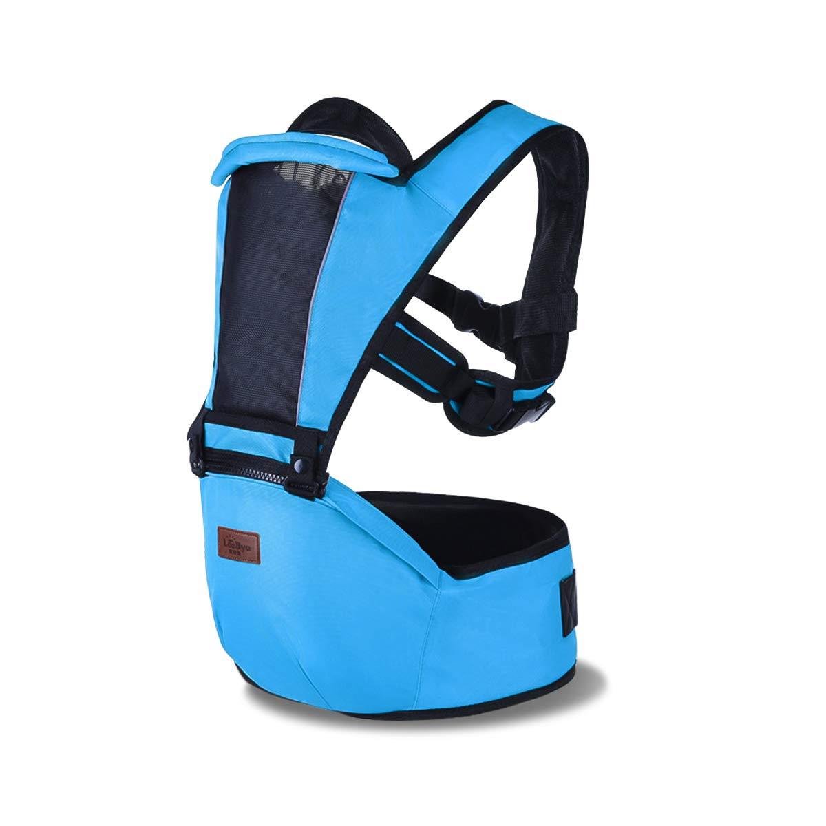 Ergon/ómico Azul Horizontal 6 Posiciones de transporte,Adaptado al crecimiento de su hijo,egalo ideal SONARIN 2018 Premium Hipseat Baby Carrier Portador de Beb/é Multifuncional Frontal