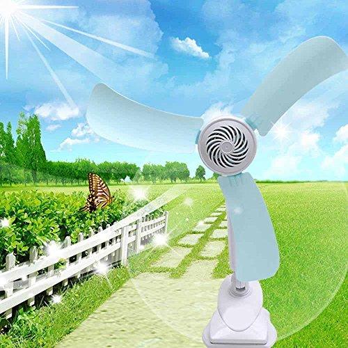 Kaxima Supply energy-saving mini students miniature small fan three leaf clip fan mute wind power fan by Kaxima