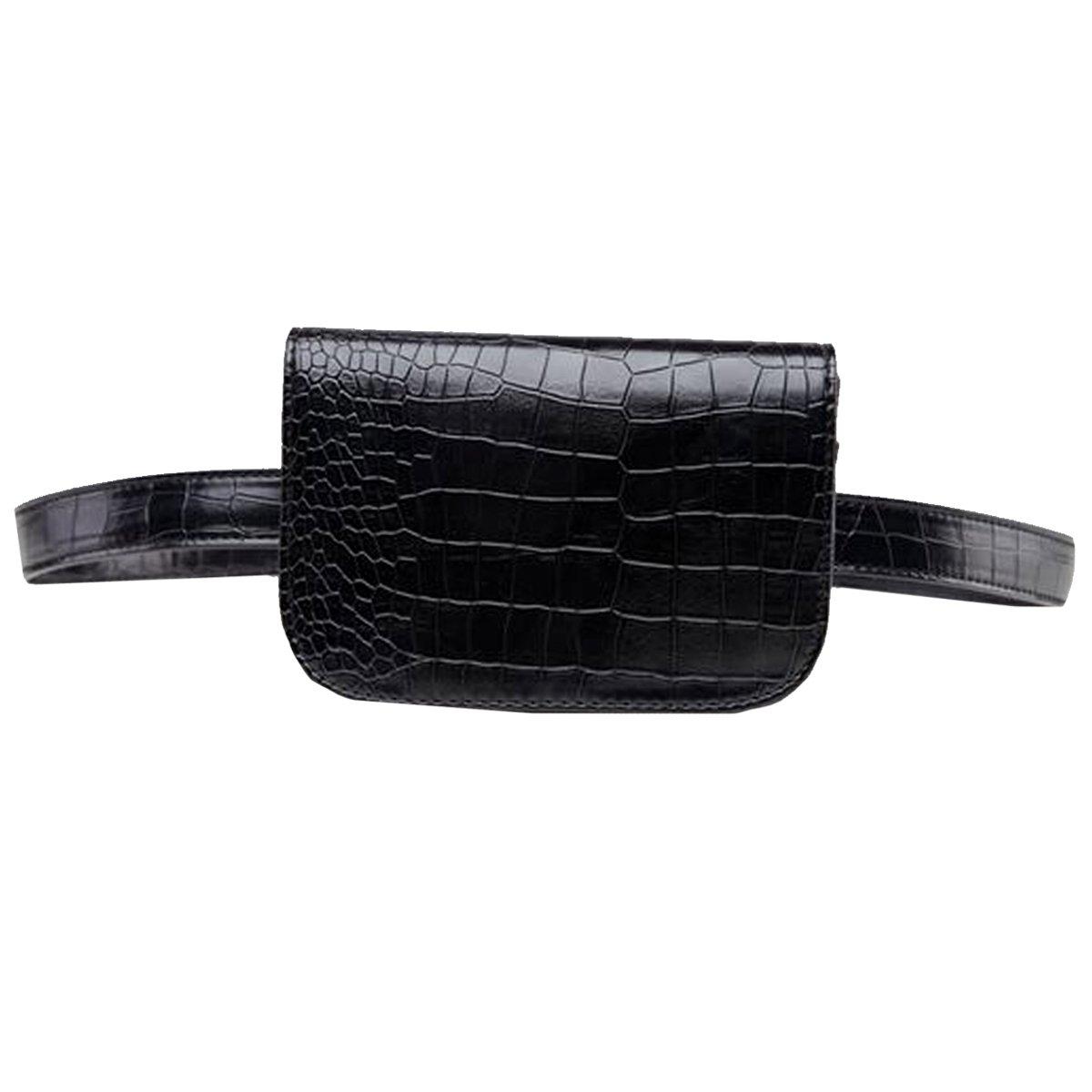 Kennedy Fashion Women Waist Bag Leather Fanny Packs Elegant Crocodile Stripes Pattern Travel Cell Phone Bag -Medium by Kennedy Manufacturing