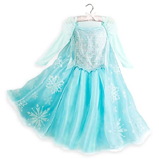 871d2e0bdaed Amazon.com: DISNEY STORE AUTHENTIC FROZEN ELSA COSTUME DRESS GOWN GIRLS  2016 - COSPLAY (11/12): Clothing
