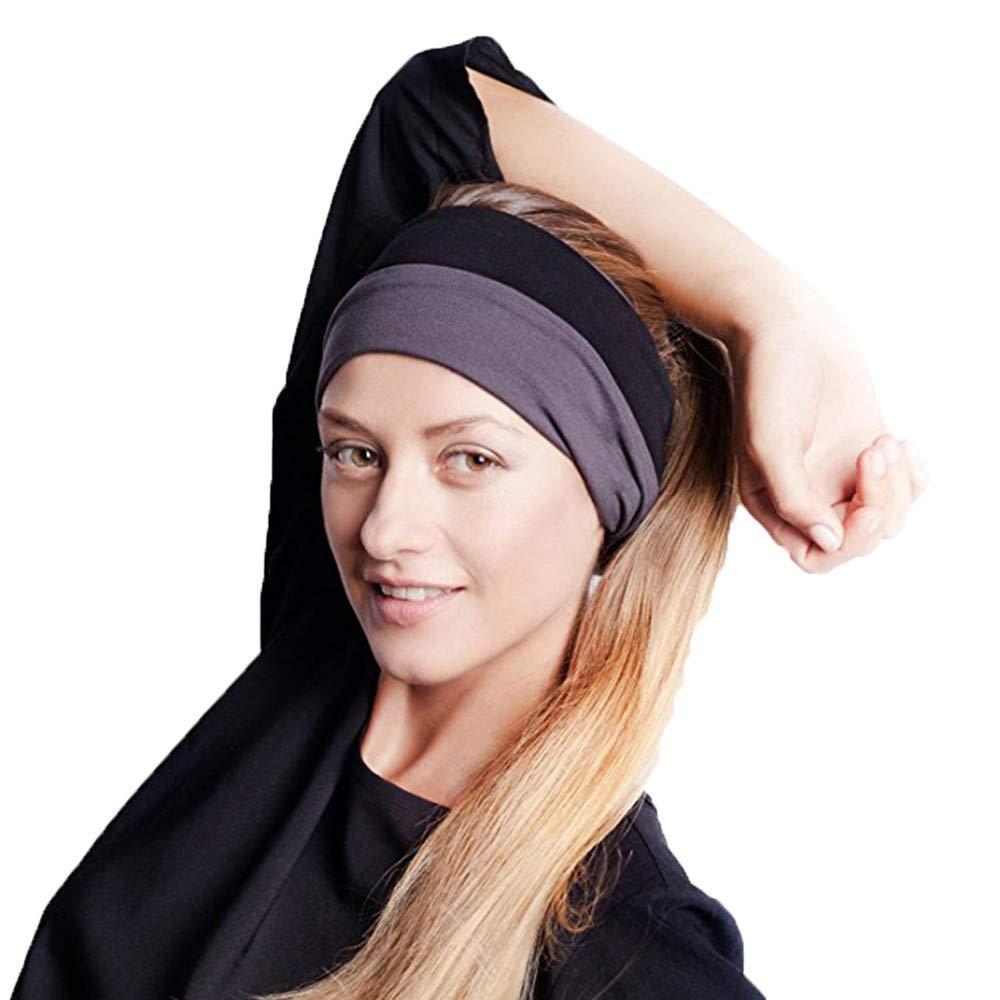 HighlifeS Women Elastic Turban Head Wrap Headband Twisted Hair Band (I)