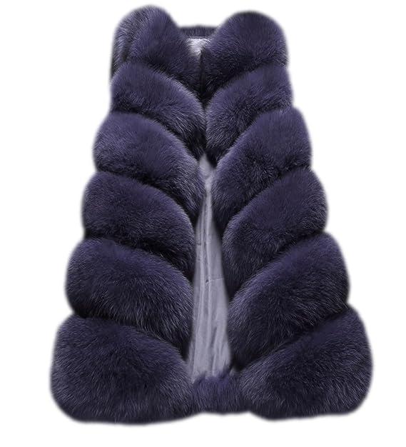 FOLOBE Chaqueta de Abrigo de Piel sintética de Abrigo de Piel de Invierno para Mujer: Amazon.es: Ropa y accesorios
