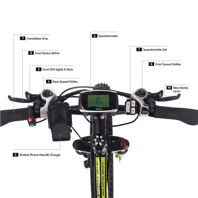 Eléctricas Bicicletas TP022 1000W Motor 48V 17Ah Batería de Litio-ion 7 niveles de Pedal asistido LCD Speedometer Tachometer Motorcycle 26 * 4inch ...