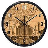 10inch India Agra City Taj Mahal Hotel Lobby Wall Clock