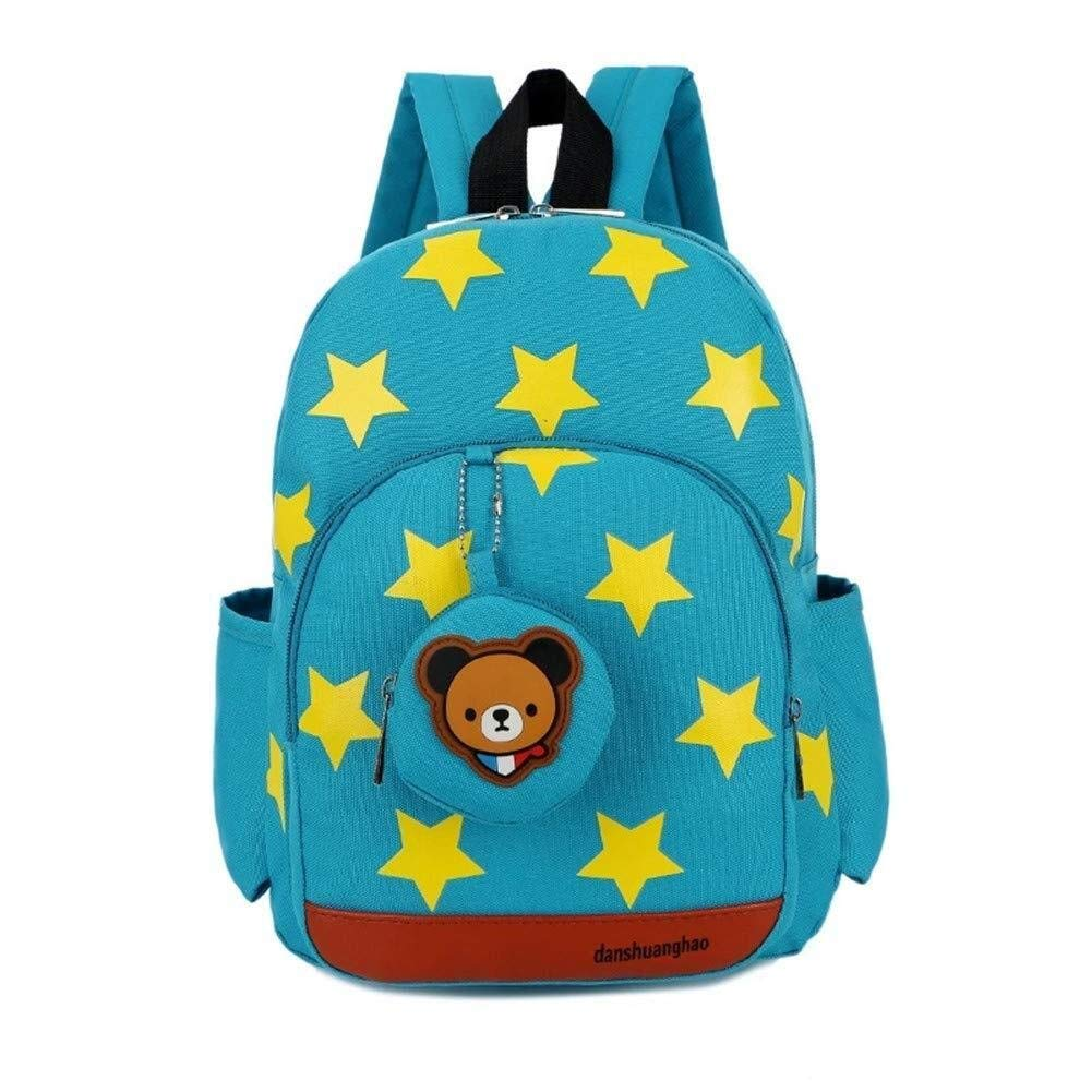 Backpack GQSC Kids Backpack Star Print Rucksack Cute Bear Toddler Bag Knapsack Color : Green Kindergarten Backpack Baby Boy Girl Kindergarten Toddler Cute Backpack Daypack