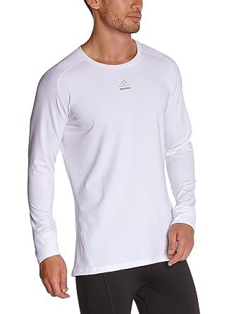 b30711064 adidas Techfit Mens Long Sleeve Compression Baselayer Shirt White - XXL