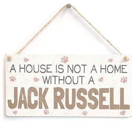 Jiokare Jack Russell Jardín Placa Colgante Cobertizo ...