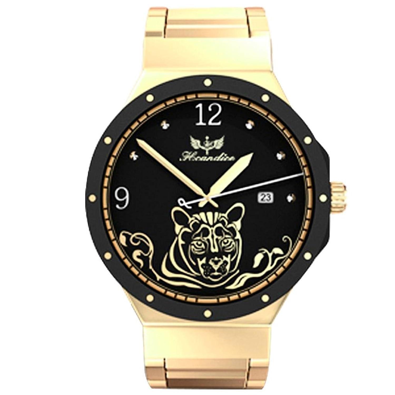 Webla 1PC Frauen arbeiten Edelstahlband-Quarz-Armbanduhr um Luxusmarken