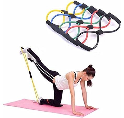 WISDOMLIFE Cuerda para ejercitar piernas, 4 Tubos, multifunción, para Yoga, Fitness, Pedal, dominadas, Culturismo, etc. Bandas de Ejercicio de Resistencia para Gimnasio en casa (Azul): Amazon.es: Deportes y aire libre