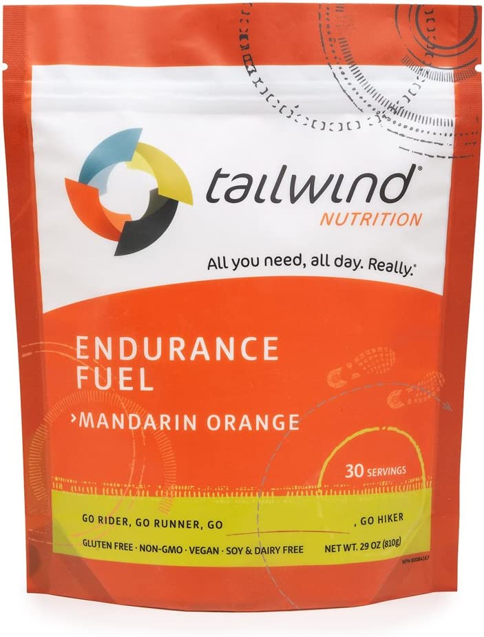 Tailwind Nutrition Mandarin Orange Endurance Fuel 30 Serving - Hydration Drink Mix with Electrolytes, Carbohydrates - Non-GMO, Gluten-Free, Vegan, No Soy or Dairy