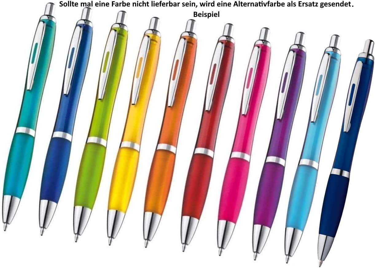 Farbe weiß-schwarz 10 Kugelschreiber