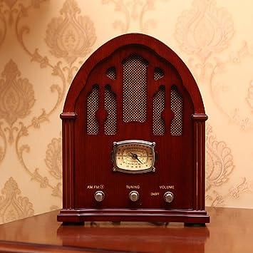 Power uk- Altavoz de Madera de Escritorio Antiguo de la Radio de la antigüedad Radio de Bluetooth de la Vendimia (Color : Redwood Color): Amazon.es: Electrónica