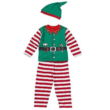 hot-vente authentique parcourir les dernières collections couleur rapide Ensemble Pyjama et Bonnet Garçon Petit Lutin du Père Noël