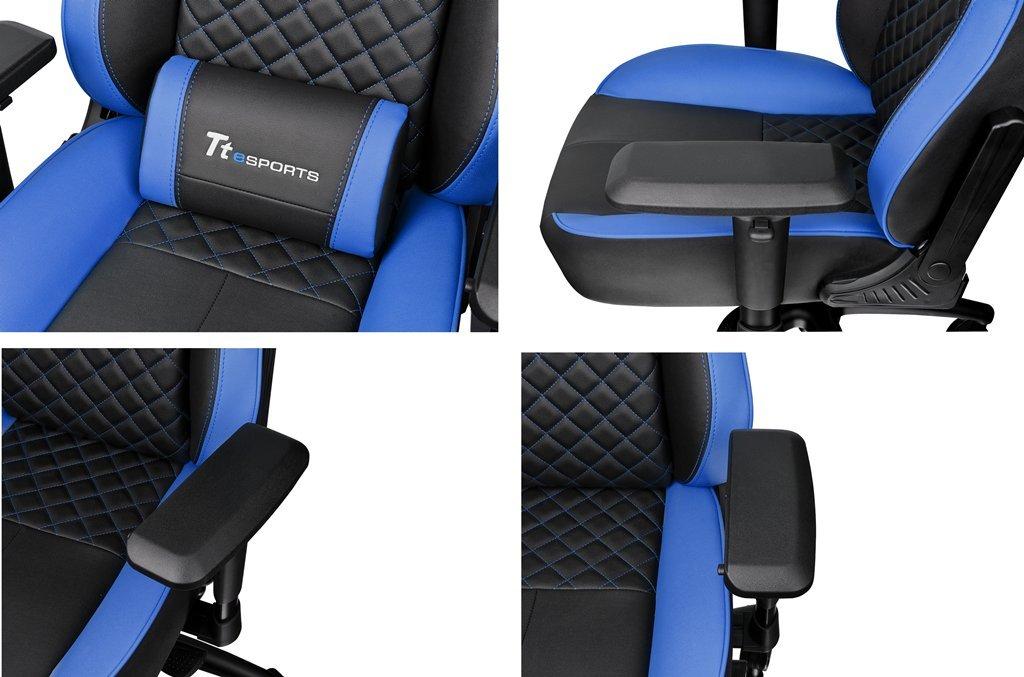 Thermaltake TT Esports GT-Comfort 500 - Silla Gaming - Azul: Amazon.es: Hogar