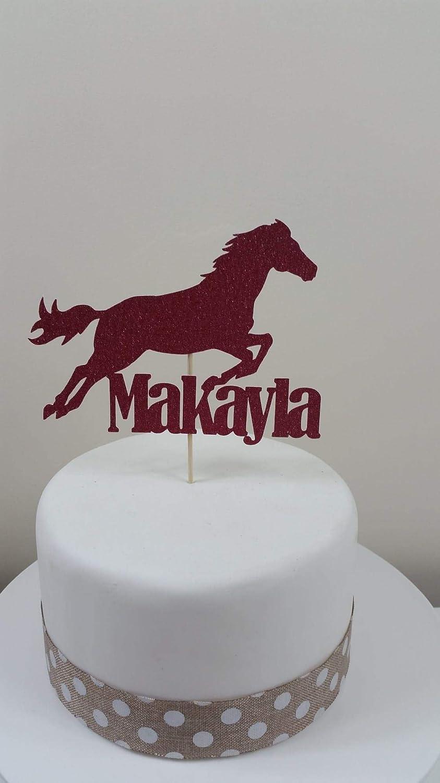 Groovy Personalised Horse Card Cake Topper Birthday Celebration Personalised Birthday Cards Xaembasilily Jamesorg