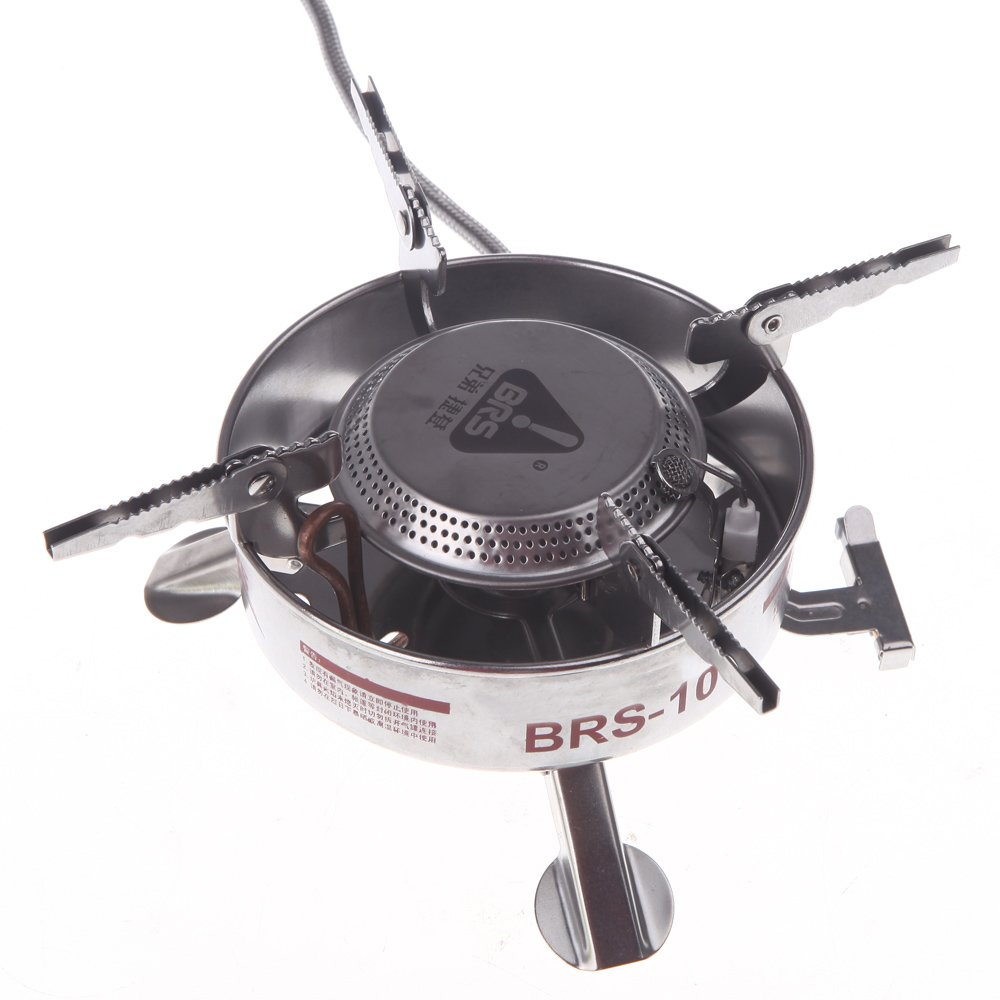 Amazon.com : BRS-10 Outdoor Camping Portable Gas Burner Strong Power Blaze Split-Type Butane Stove Stainless Steel Picnic BBQ Gas Stove : Everything Else