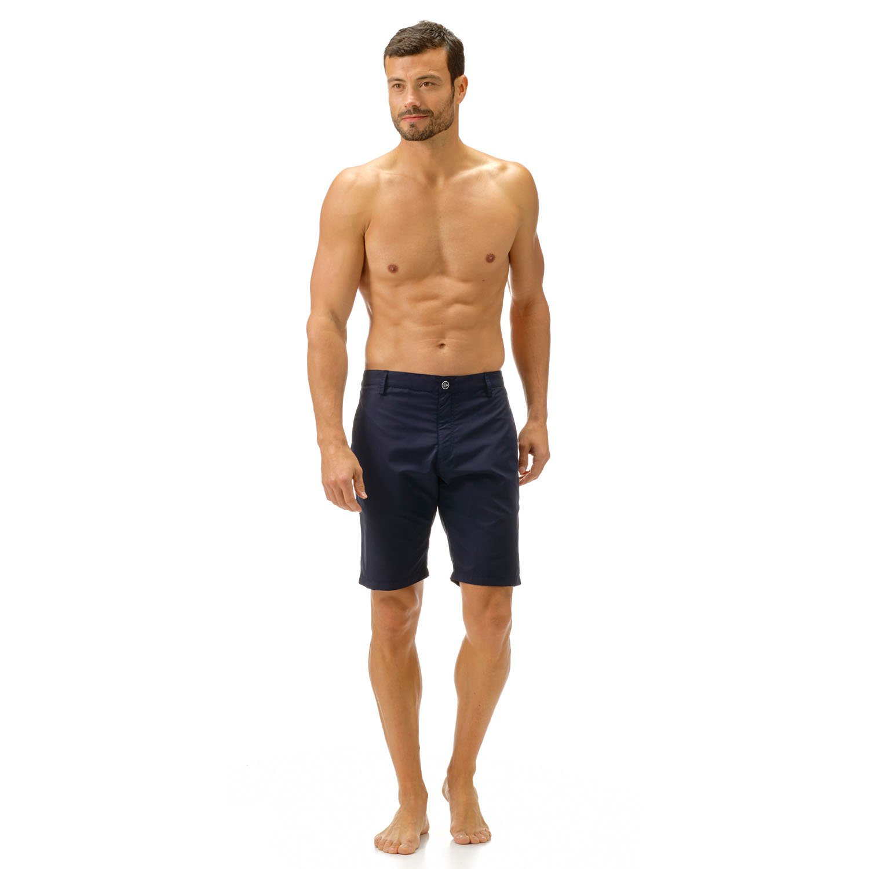 Vilebrequin - Bermuda Short in swimsuit fabric - Men - M - Navy Blue
